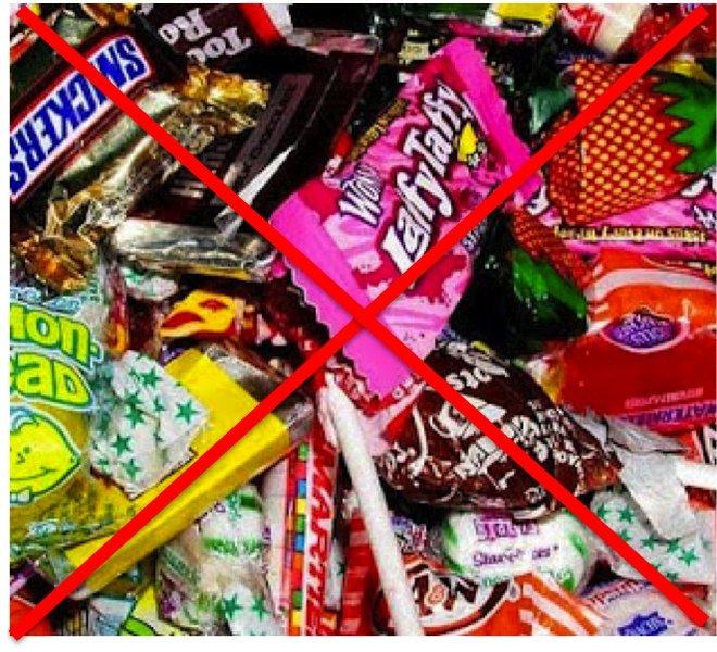 no agli zuccheri per i bambini, iooccolato e caramelle banditi dalla dieta