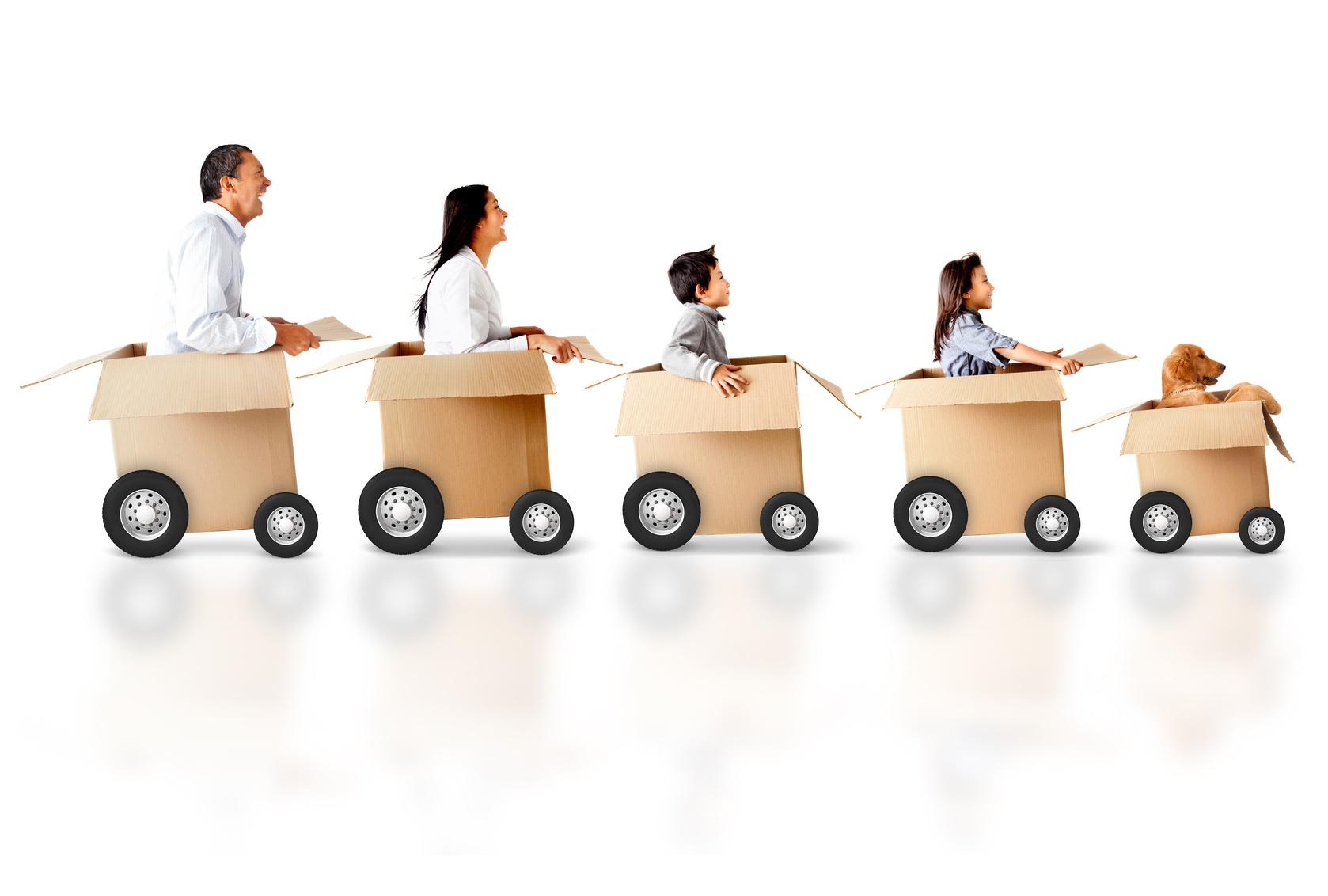 trasferimento: famiglie che cambiano città