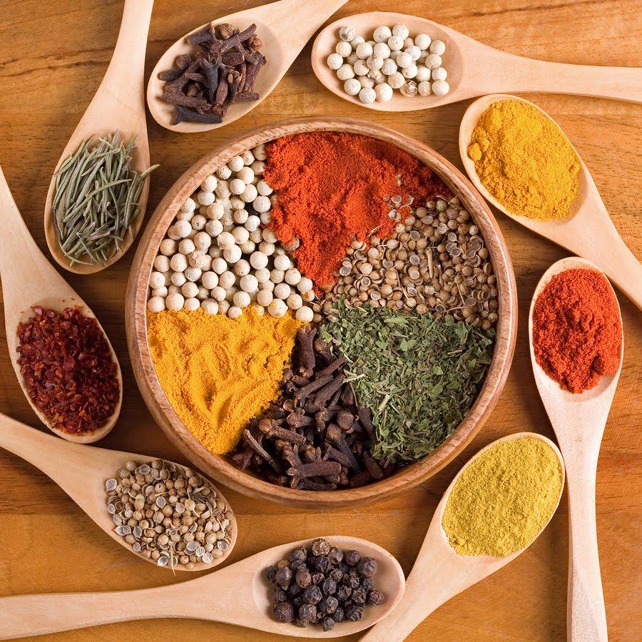 sapori nuovi e bambini, le spezie e le erbe aromatiche