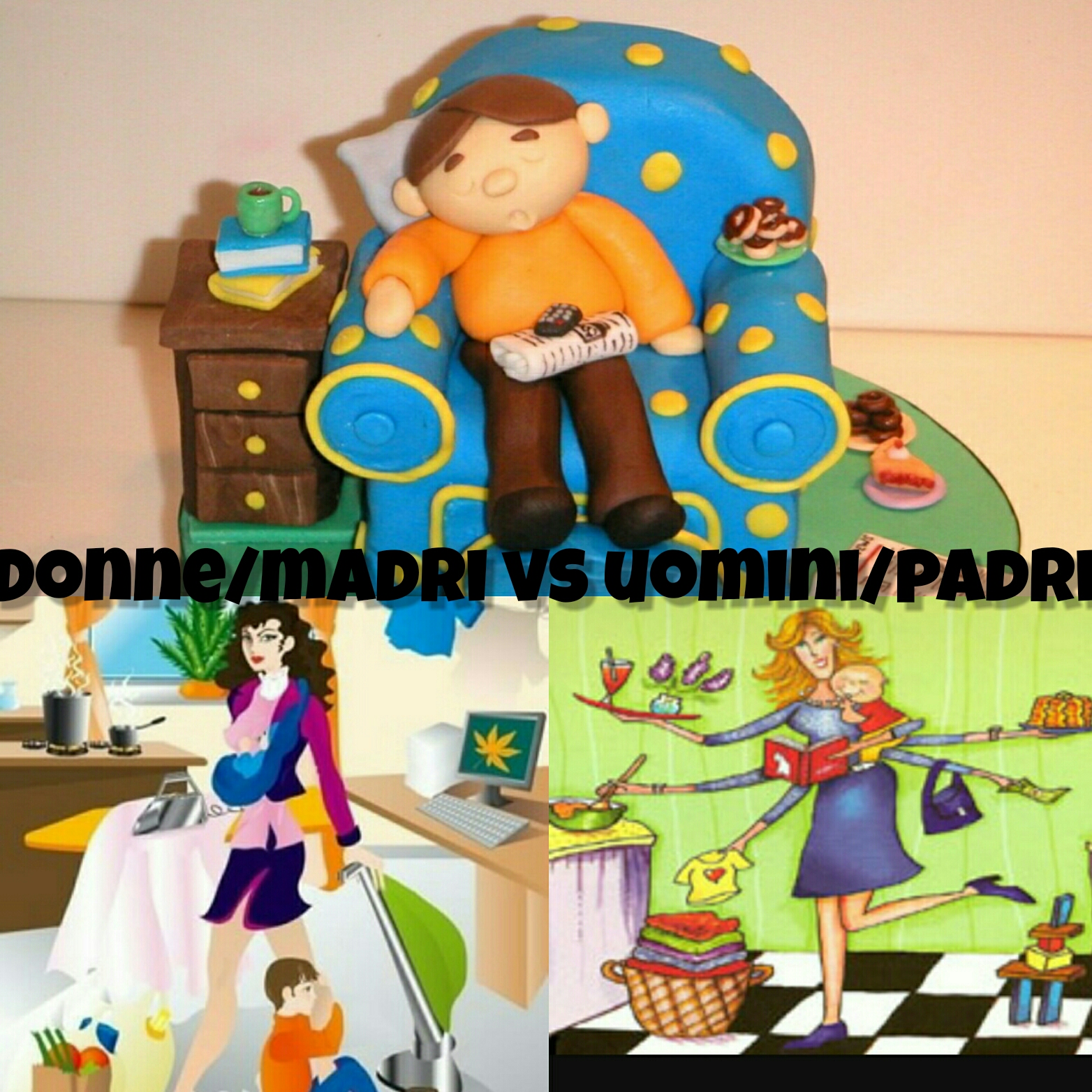 donne/madri vs uomini/padri