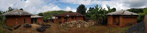 gruppo di case in villaggio